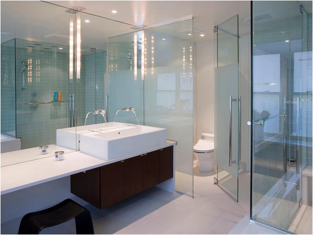Bathroom with Glass Walls