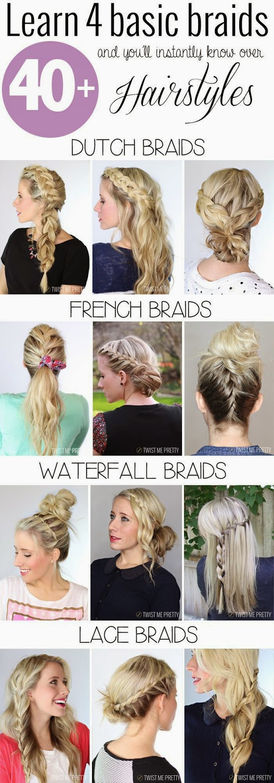 DIY 4 basic braids