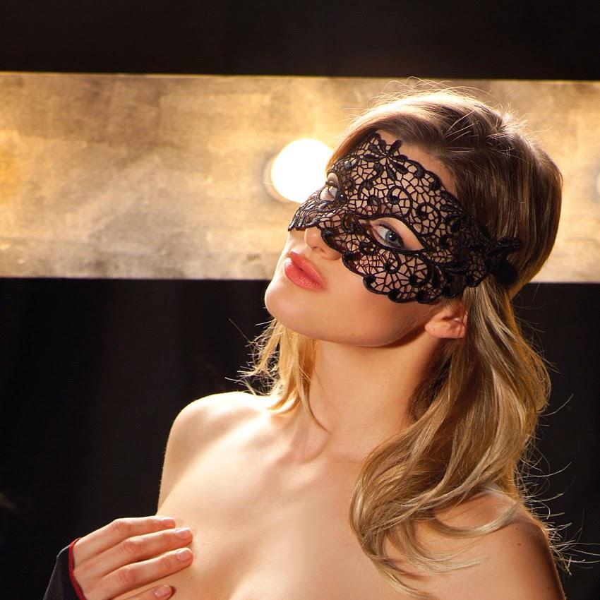 Augenmaske Demi aus Spitze von Trasparenze