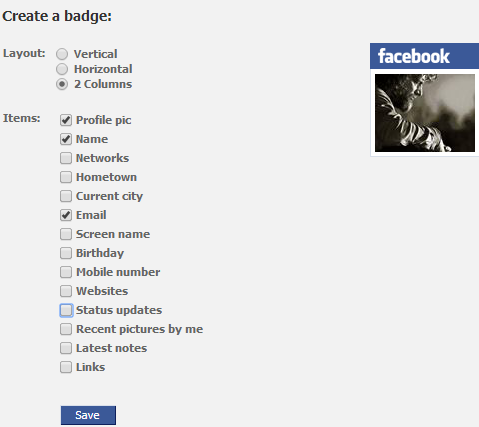 create a badge recommended settings