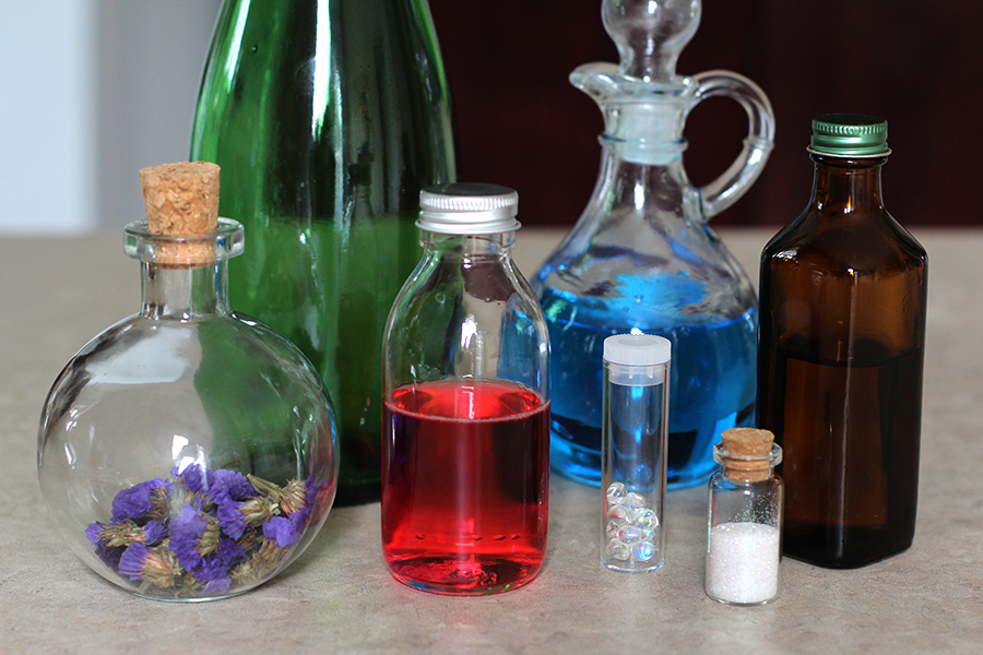 fill your glass bottle for halloween apothecary magic potions