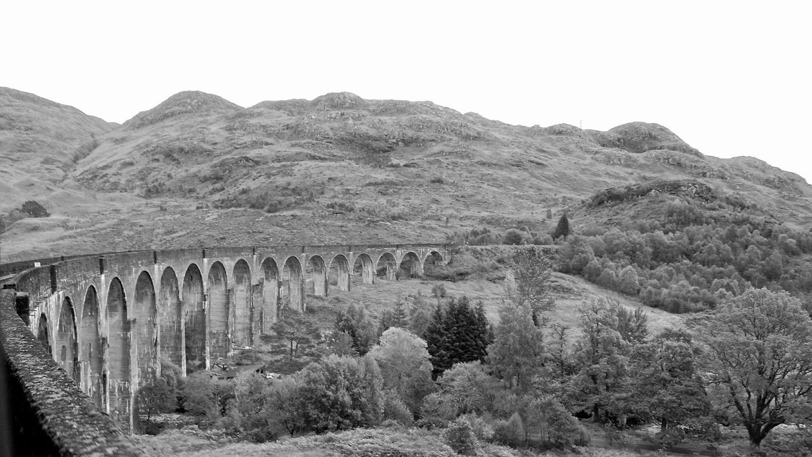 Glenfinnan Viaduct as view from the train