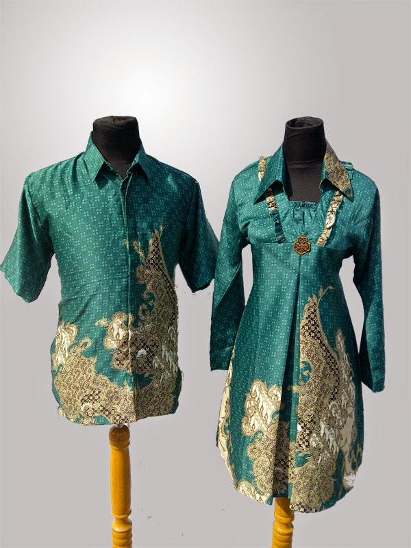 Gambar Baju Batik Modern Couple