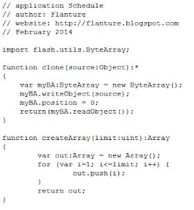 Schedule Flash Application