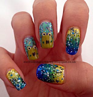 frog nail art