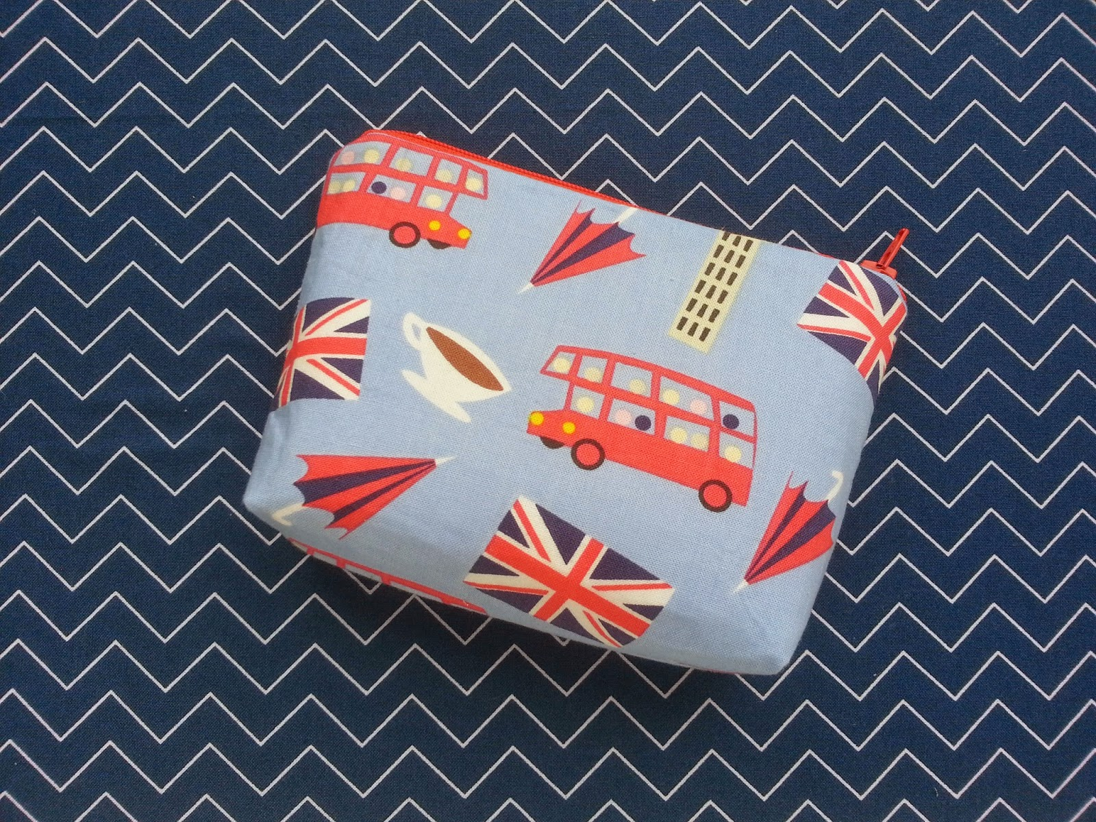 Little Bitty London Calling Zipper Pouch