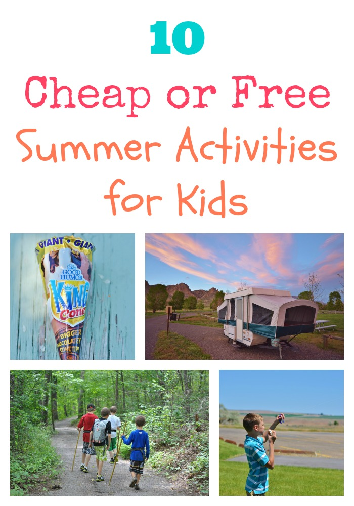 Summer fun doesn't have to cost a fortune. Check out these 10 free or cheap #summer fun activities!