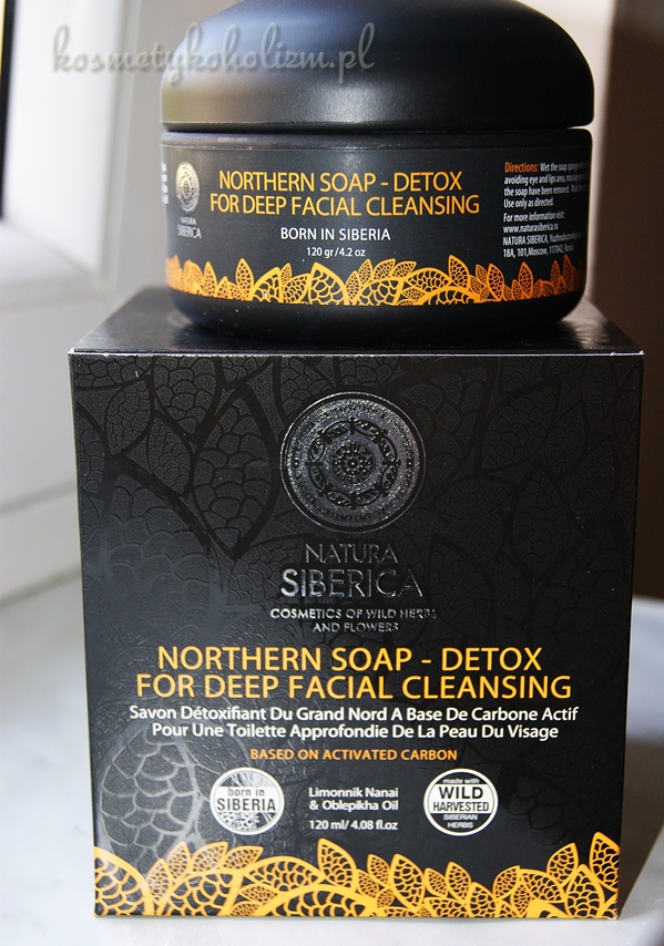 NATURA SIBERICA NORTHERN SOAP DETOX FOR DEEP FACIAL CLEANSING | CZARNE MYDŁO