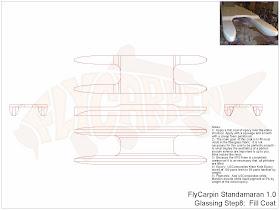 Standamaran SUP Plans Glassing Step 8