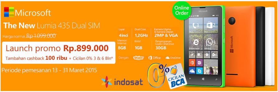 Promo Microsoft Lumia 435 Sentraponsel