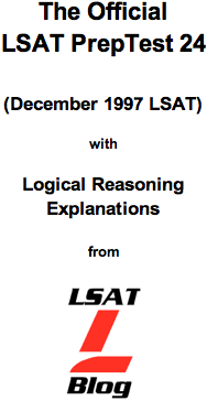 LSAT Blog PrepTest 24 December 1997 LSAT PDF