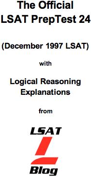 LSAT Blog PrepTest 24 December 1997 LSAT PDF