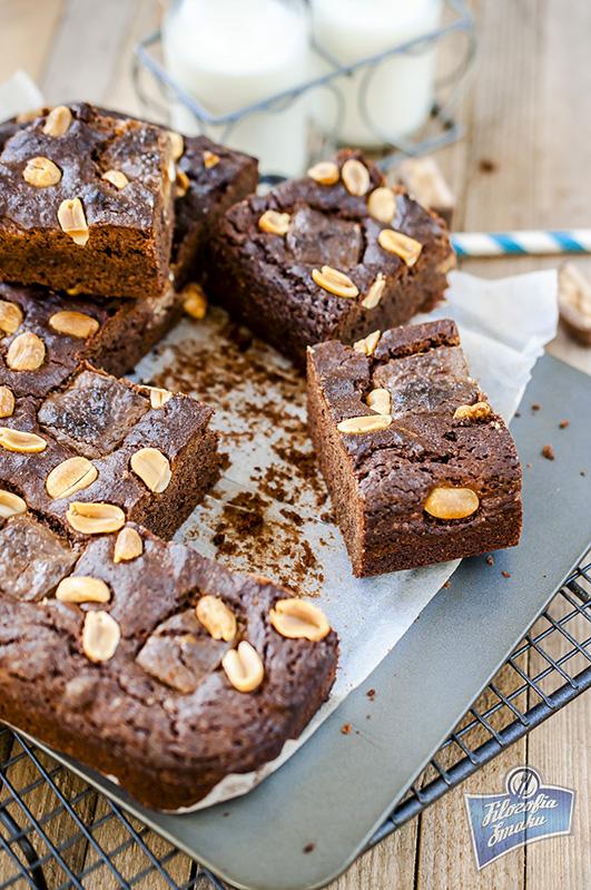 Ciasto czekoladowe ze snickersem