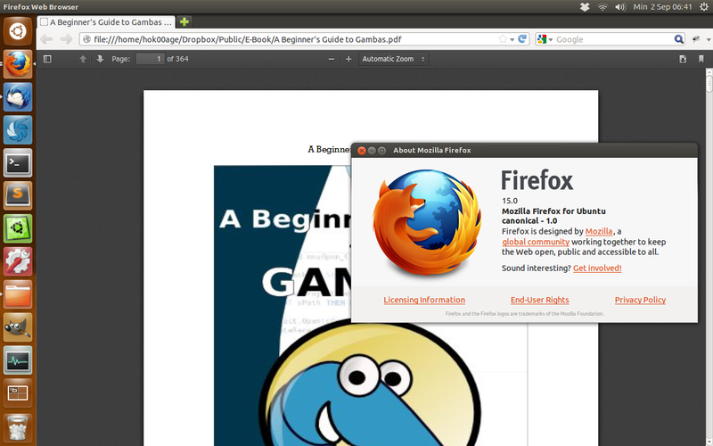 Membuka file PDF di Mozilla Firefox