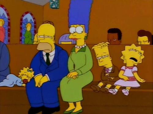 La cara de homero en una caja, homero y flanders, el reverendo alegria salva a ned,Pregúntale a Marge