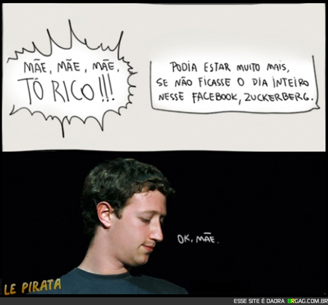 mae mark zuckerberg reclamando facebook