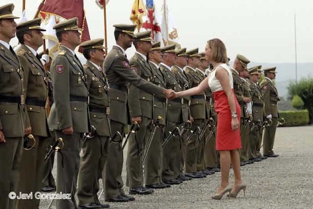 Ministra Carme Chacón, Reales Despachos, Sargentos, Talarn, Lleida,