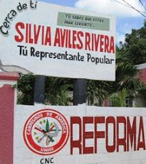Slogan Silvia Aviles aspirante Alcaldesa PRI Calkiní. 12ene12.