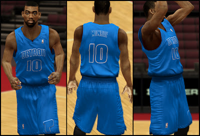 NBA 2K13 Detroit Pistons Christmas Jersey Mods