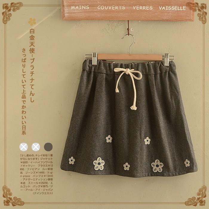 sakura shop hàng nhật, chân váy hoa