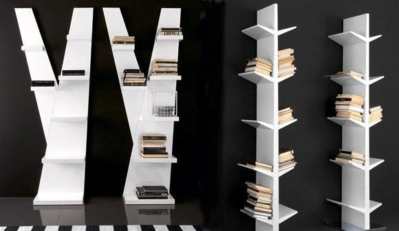 La compañía italiana Compar ha diseñado estas estanterías con forma de libro.