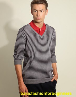 Sweater fashion with color T-shirt