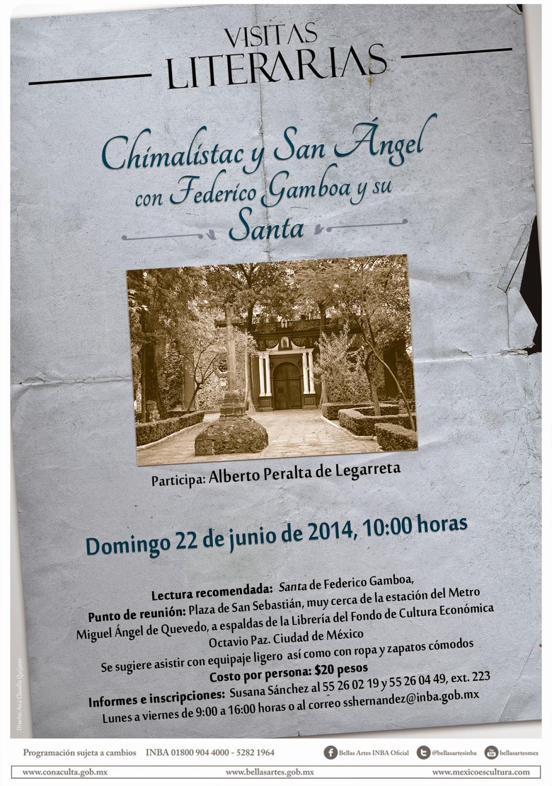 Visita literaria a San Ángel con Federico Gamboa
