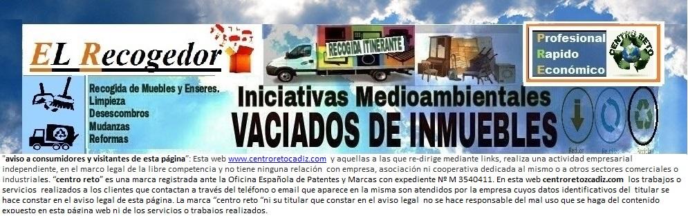 RECOGIDA DE MUEBLES Y MUDANZAS CADIZ, JEREZ, SANLÚCAR, CHIPIONA, EL PUERTO, ARCOS.