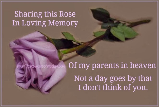 Missing My Mom In Heaven Quotes Interesting Daveswordsofwisdom In Memory Of Parents In Heaven