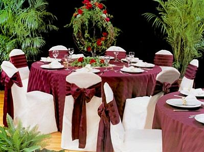 Decorated wedding chairs ties 1 - Mesas de boda decoradas ...