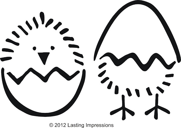 Easter Baby Chick Template