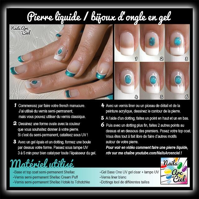 Tutoriel Pierre liquide / bijoux d'ongle en gel