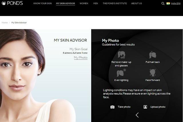 My Skin Advisor, Pond's, Pond's India, Skin Analysis App, Skincare