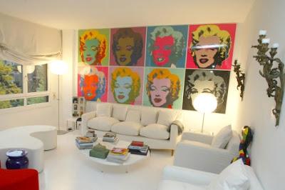 Decoracion de interiores y casa como colgar un cuadro - Como colocar cuadros en un salon ...
