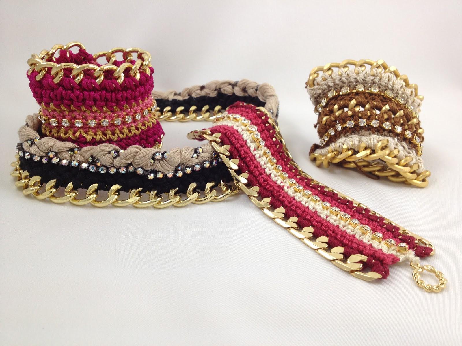 Para muestra un botón, aqui les mostramos algunas de las piezas que enseñamos en las nuevas clases de \u0026quot;Crochet\u0026quot; en Entrepiedras Bisuteria.
