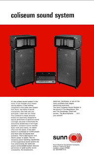 How did Sunn O))) get the band name - Sunn Coliseum Sound System Brochure