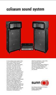How did Sunn O))) get the band name - Sunn Coliseum Sound System Brochure