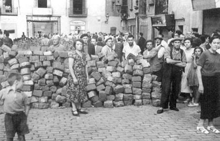 barricadas, españa,
