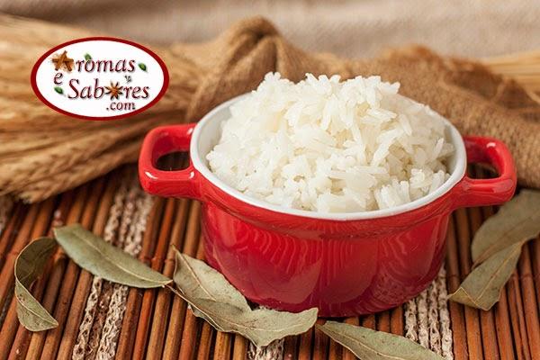 arroz branco simples com louro