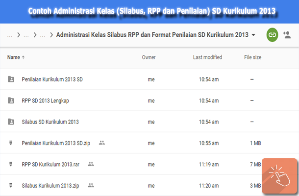 Contoh Administrasi Kelas (Silabus, RPP dan Penilaian) SD Kurikulum 2013