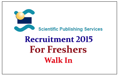Scientific Publishing Service Hiring Freshers for the year of 2015