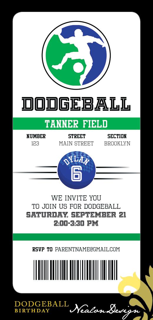 dodgeball birthday party