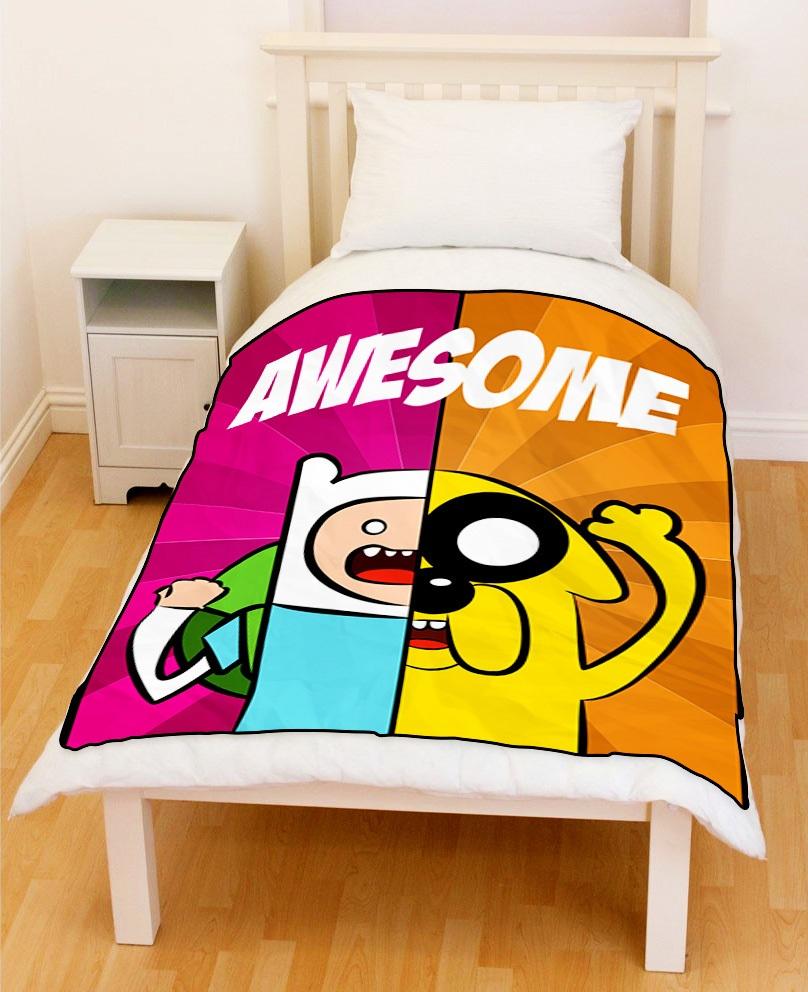 Buy jake finn adventure time throw fleece blanket for Jake quilted bedding