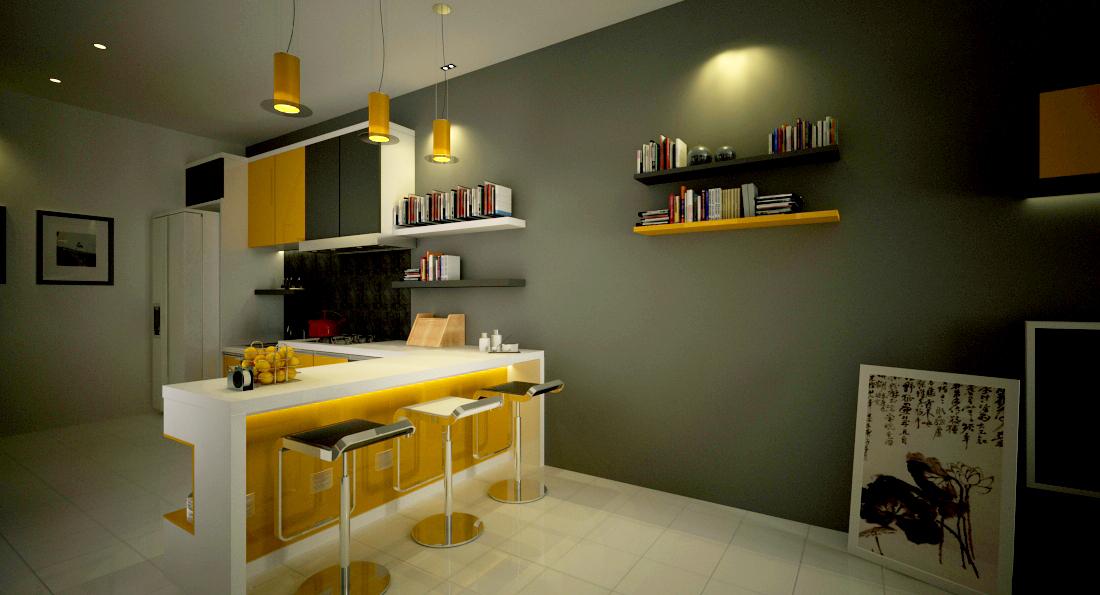 Town House Sunshine Shadow Interior Design