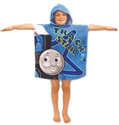 New Thomas Poncho towel Blue