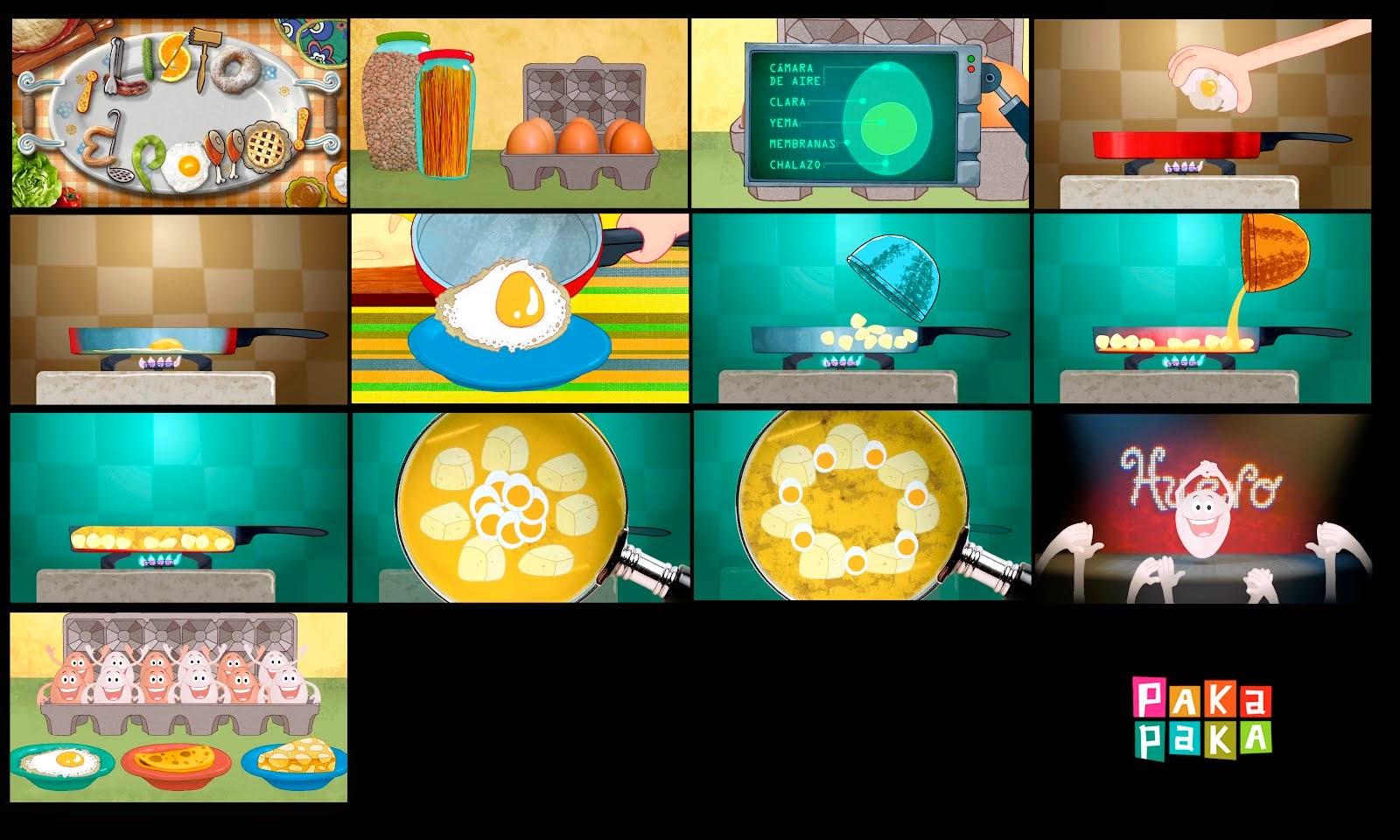 Listo el Pollo arte de las Pastillas animadas, canal Paka Paka