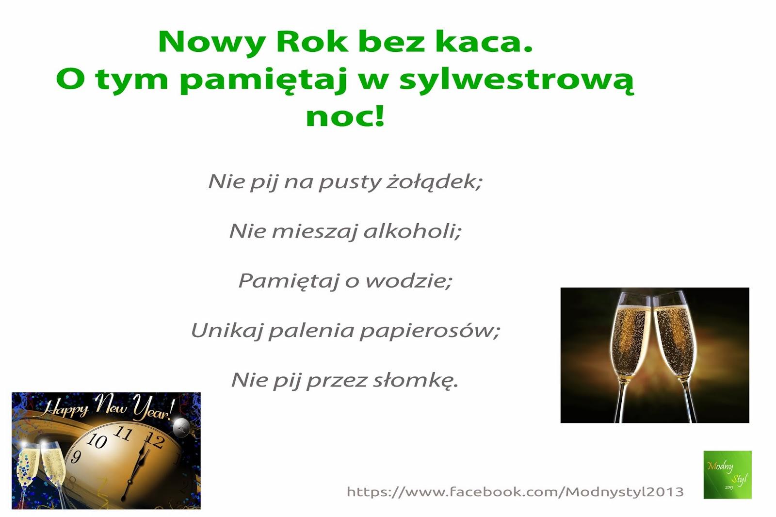 Przywitaj Nowy Rok bez kaca!