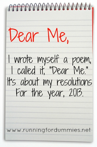 RUNNING WITH OLLIE: Dear Me in 2013 (A Poem)