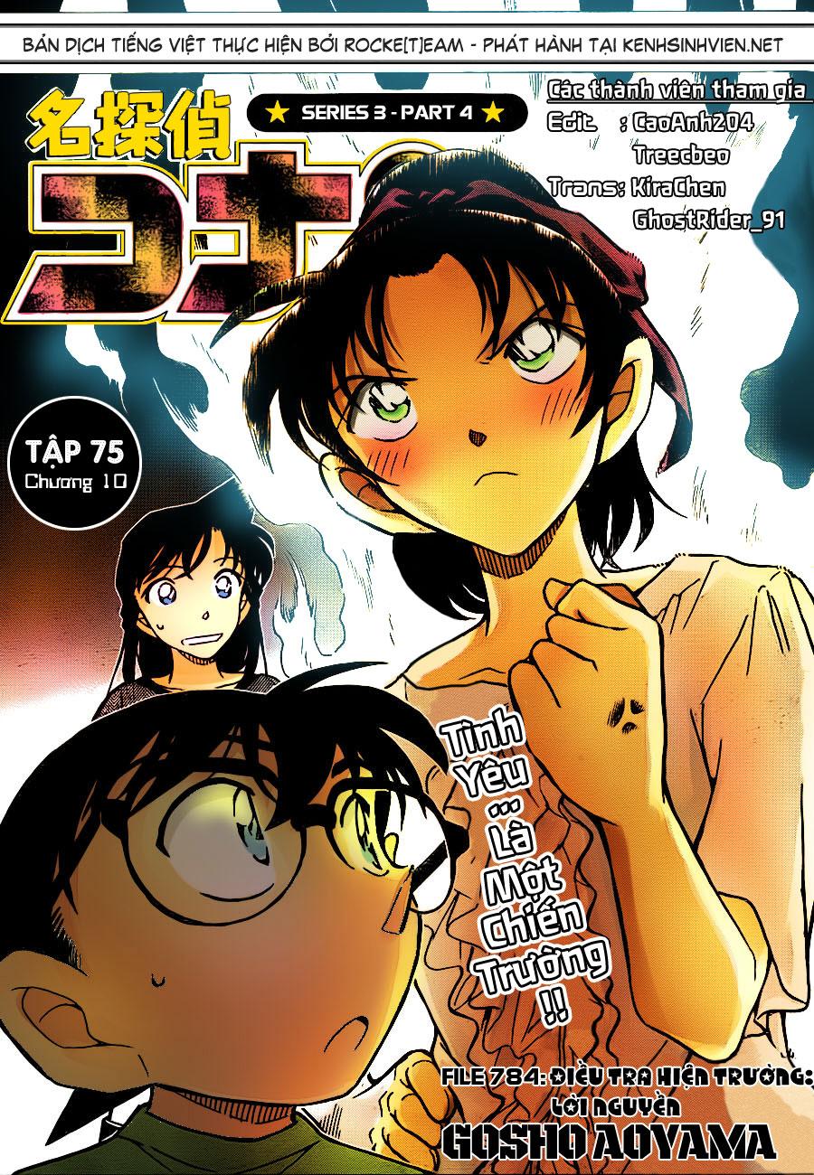 Detective Conan - Thám Tử Lừng Danh Conan chap 784 page 1 - IZTruyenTranh.com