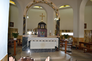 terra santa tiberiades interior igreja bem aventurança